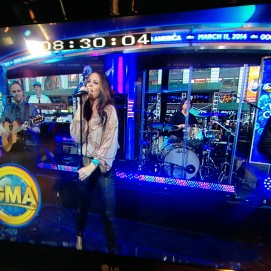 What the camera sees at GMA!
